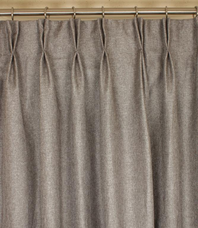 Double Pinch Pleat Grey Curtains Within Double Pinch Pleat Top Curtain Panel Pairs (Image 7 of 25)