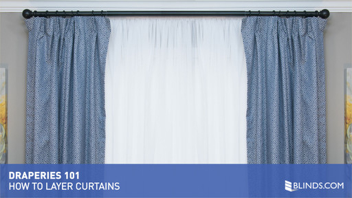 Draperies 101 – How To Layer Curtains Intended For Double Layer Sheer White Single Curtain Panels (Image 14 of 25)