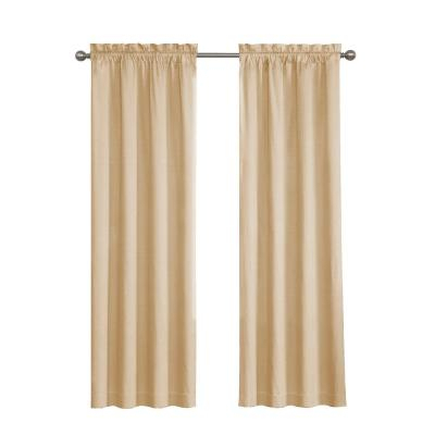 Eclipse Meridian Blackout Window Curtain Panel In Linen – 42 With Linen Button Window Curtains Single Panel (View 3 of 25)