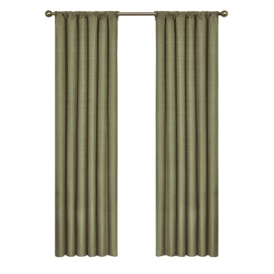 Eclipse Meridian Blackout Window Curtain Panel In River Blue With Regard To Linen Button Window Curtains Single Panel (View 18 of 25)