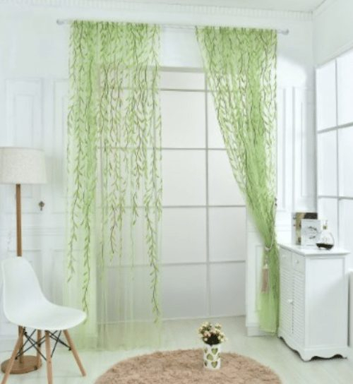Edal Willow Voile Window Curtain Panel/ Sheer Scarf Valances Pertaining To Willow Rod Pocket Window Curtain Panels (View 20 of 25)