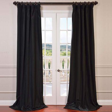 Eff Blackout 1 Panel Faux Silk Taffeta Window Curtain Throughout Vue Elements Priya Tab Top Window Curtains (Image 13 of 25)