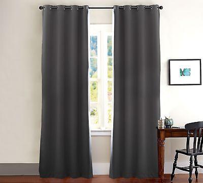 Evolive Total Blackout, Light Blocking, Room Darkening Window Curtain/panel  Pair | Ebay With Julia Striped Room Darkening Window Curtain Panel Pairs (Image 7 of 25)