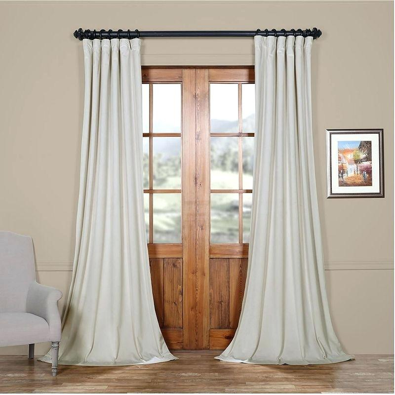 Exclusive Fabrics Curtains – Frogfreaks With Regard To Heritage Plush Velvet Single Curtain Panels (Image 5 of 25)
