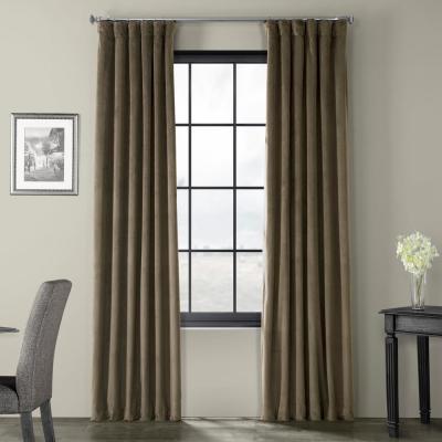 Exclusive Fabrics & Furnishings Aztec Gold Heritage Plush With Heritage Plush Velvet Single Curtain Panels (Image 4 of 25)