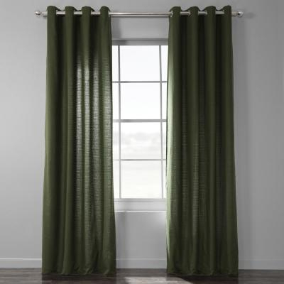 Exclusive Fabrics & Furnishings Fresh Popcorn And Black Room Pertaining To Vertical Colorblock Panama Curtains (Image 8 of 25)