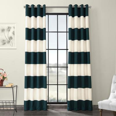 Exclusive Fabrics & Furnishings Fresh Popcorn And Black Room Pertaining To Vertical Colorblock Panama Curtains (Image 7 of 25)