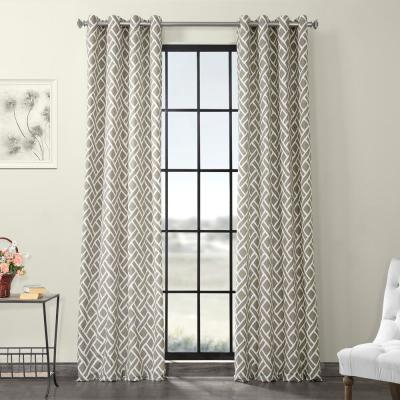 Exclusive Fabrics & Furnishings Fresh Popcorn And Black Room Within Vertical Colorblock Panama Curtains (Image 10 of 25)