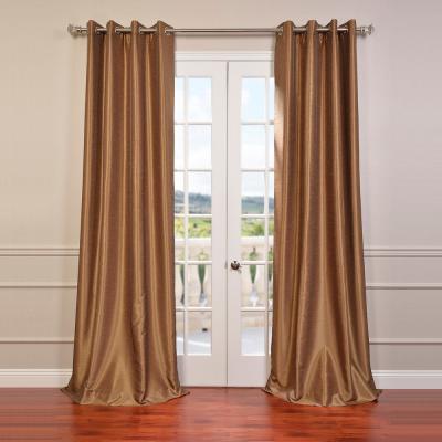 Exclusive Fabrics & Furnishings Smokey Plum Purple Grommet Regarding Vintage Faux Textured Dupioni Silk Curtain Panels (Image 5 of 25)