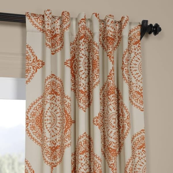 Exclusive Fabrics Moroccan Style Thermal Insulated Blackout Regarding Thermal Insulated Blackout Curtain Pairs (View 9 of 25)