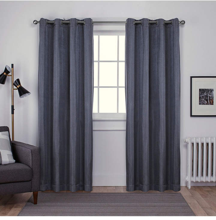 Exclusive Home Carling Basketweave Textured Woven Blackout Regarding Woven Blackout Grommet Top Curtain Panel Pairs (Image 8 of 25)