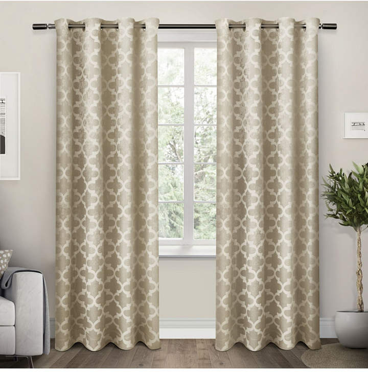 Exclusive Home Cartago Insulated Woven Blackout Grommet Top Curtain Panel  Pair In Delano Indoor/outdoor Grommet Top Curtain Panel Pairs (Image 8 of 25)