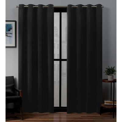 Exclusive Home Curtains Academy Total Blackout Grommet Top In Thermal Insulated Blackout Grommet Top Curtain Panel Pairs (View 5 of 25)