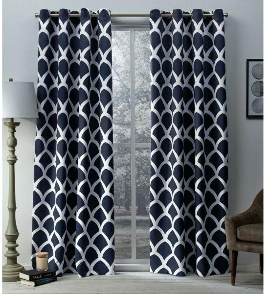 Exclusive Home Curtains Academy Total Blackout Grommet Top In Woven Blackout Grommet Top Curtain Panel Pairs (Image 9 of 25)