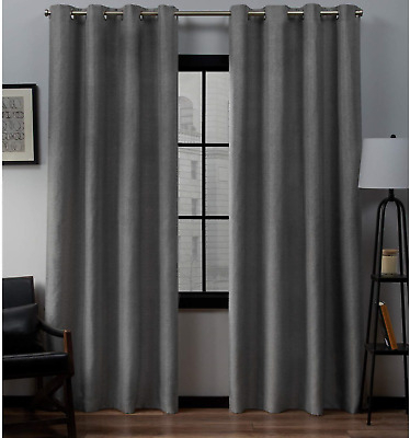 Exclusive Home Curtains Biscayne Grommet Top Panel Pair Within Kochi Linen Blend Window Grommet Top Curtain Panel Pairs (View 19 of 25)