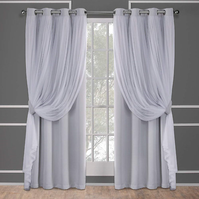 Exclusive Home Curtains Catarina Woven Blackout Grommet Top Panel Pair,  Cloud 2 In Woven Blackout Curtain Panel Pairs With Grommet Top (Image 9 of 25)