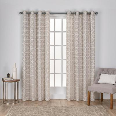 Exclusive Home Curtains Kochi Blush Grommet Top Curtain Pair Intended For Kochi Linen Blend Window Grommet Top Curtain Panel Pairs (View 17 of 25)