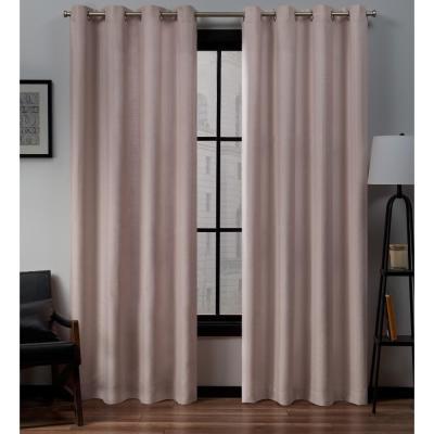 Exclusive Home Curtains Kochi Blush Grommet Top Curtain Pair Regarding Kochi Linen Blend Window Grommet Top Curtain Panel Pairs (Image 9 of 25)