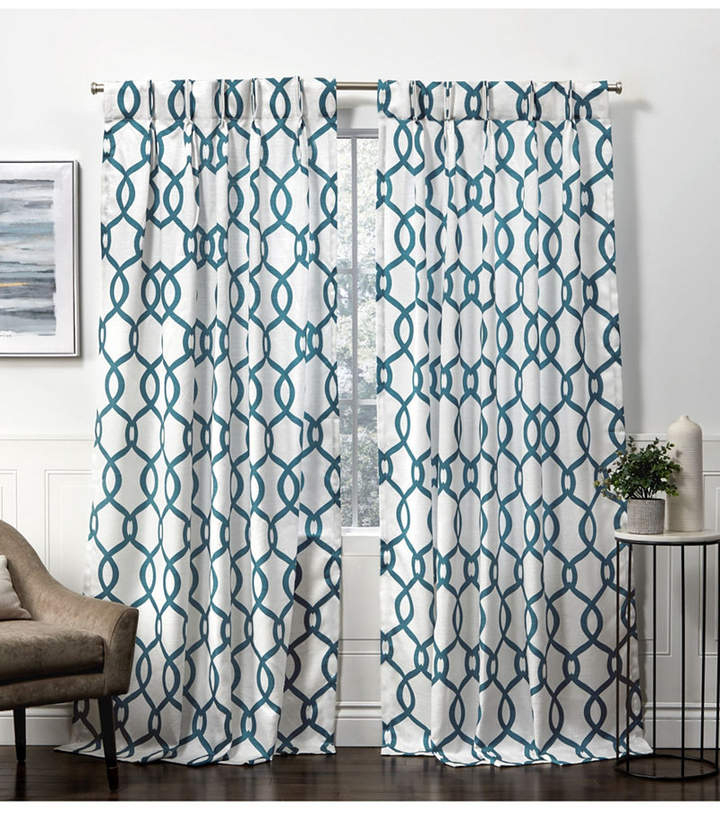 Exclusive Home Curtains Kochi Linen Blend Hidden Tab Top Intended For Kochi Linen Blend Window Grommet Top Curtain Panel Pairs (View 4 of 25)