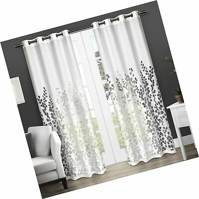 Exclusive Home Curtains Wilshire Burnout Sheer Window Curtain Panel Pair  With 773822223604 | Ebay With Regard To Wilshire Burnout Grommet Top Curtain Panel Pairs (Image 11 of 25)