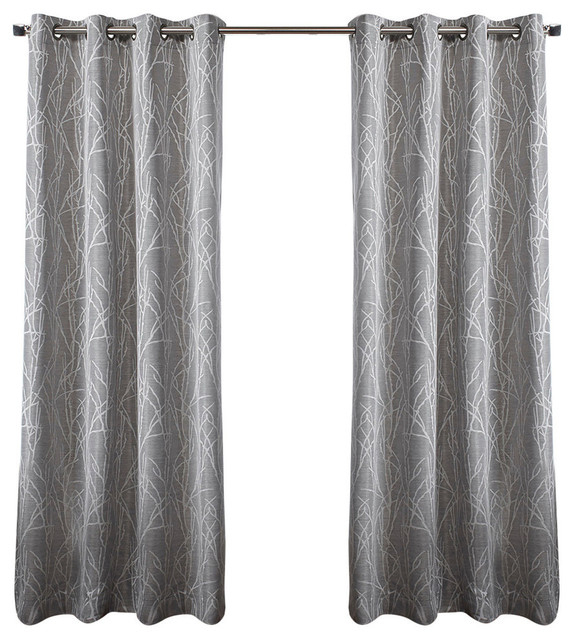 Exclusive Home Finesse Grommet Top 96 Inch Curtain Panel, Set Of 2, Ash Grey Within Davis Patio Grommet Top Single Curtain Panels (Image 10 of 25)