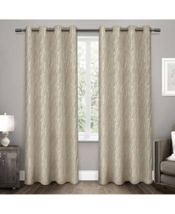 Exclusive Home Forest Hill Woven Blackout Grommet Top For Woven Blackout Curtain Panel Pairs With Grommet Top (Image 14 of 25)