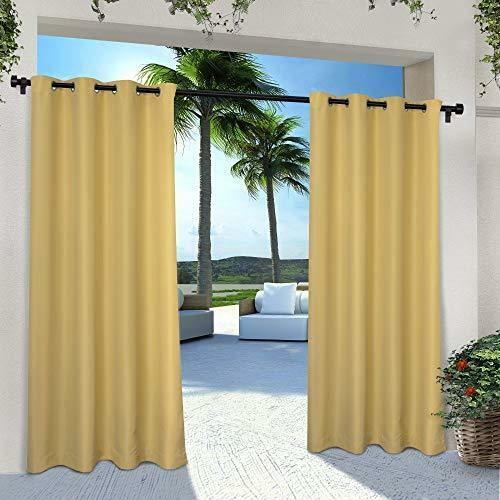 Exclusive Home Indoor/outdoor Solid Cabana Window Curtain Panel Pair With  Top 2 Within Delano Indoor/outdoor Grommet Top Curtain Panel Pairs (Image 13 of 25)