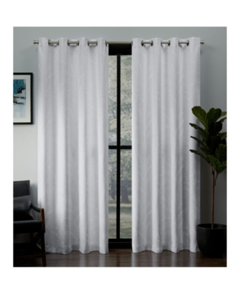 Exclusive Home Kilberry Woven Blackout Grommet Top Curtain For Woven Blackout Curtain Panel Pairs With Grommet Top (Image 16 of 25)