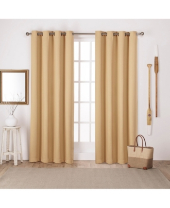 Exclusive Home Sateen Twill Woven Blackout Grommet Top In Woven Blackout Curtain Panel Pairs With Grommet Top (Image 17 of 25)
