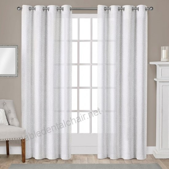 Exclusive Home Sparkles Heavyweight Metallic Fleck Textured With Kochi Linen Blend Window Grommet Top Curtain Panel Pairs (View 23 of 25)
