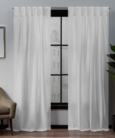 Exclusive Home Winter White Loha Button Top Curtain Panel – Set Of Two For Linen Button Window Curtains Single Panel (View 8 of 25)