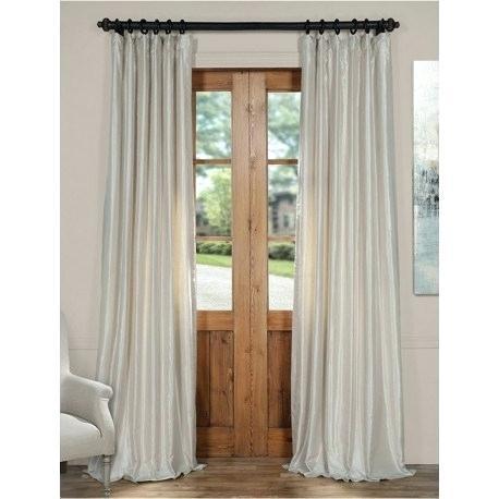 Faux Dupioni Silk Curtains – Albotola (Image 7 of 25)