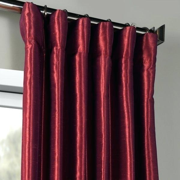 Faux Dupioni Silk Curtains Exclusive Fabrics Mulberry Intended For Vintage Textured Faux Dupioni Silk Curtain Panels (Image 14 of 25)