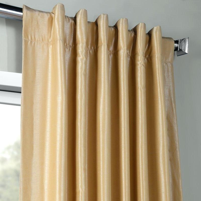 Faux Dupioni Silk Curtains – Kimberliamodeo (Image 10 of 25)