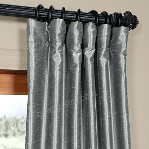 Faux Dupioni Silk Curtains – Martinez Ed Pertaining To Vintage Textured Faux Dupioni Silk Curtain Panels (Image 10 of 25)