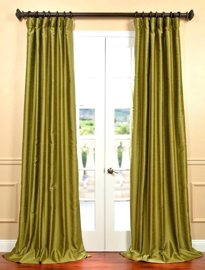 Faux Dupioni Silk Curtains – Martinez Ed Regarding Vintage Faux Textured Dupioni Silk Curtain Panels (Image 11 of 25)