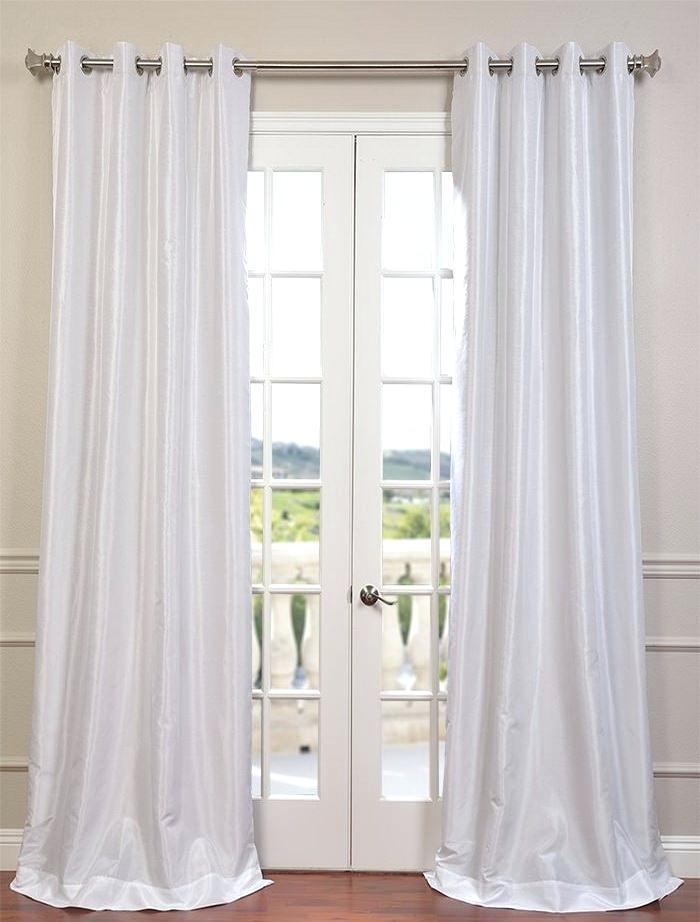 Faux Dupioni Silk Curtains – Vonosta (Image 12 of 25)