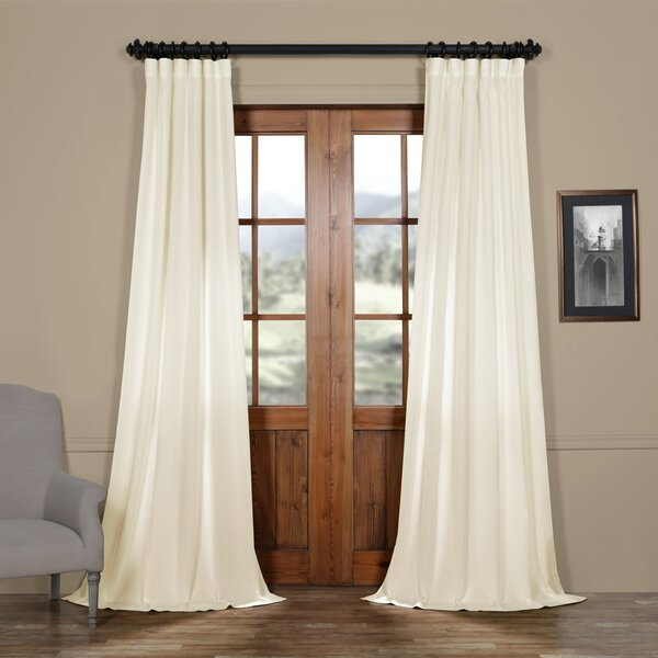 Faux Linen Curtains | Wayfair Intended For Heavy Faux Linen Single Curtain Panels (Image 11 of 25)