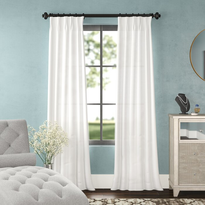 Forbell Solid Blackout Vintage Textured Faux Dupioni Thermal Pinch Pleat  Single Curtain Panel Pertaining To Vintage Textured Faux Dupioni Silk Curtain Panels (Image 16 of 25)