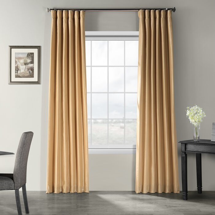 Featured Image of Vintage Textured Faux Dupioni Silk Curtain Panels
