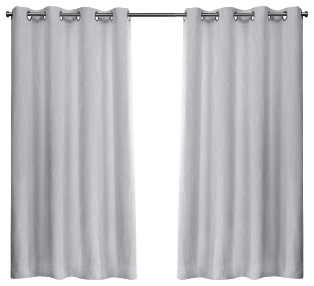 Forest Hill Woven Blackout Grommet Top Window Curtain Panel Pair, 52X63,  Winter Regarding Woven Blackout Curtain Panel Pairs With Grommet Top (Image 18 of 25)
