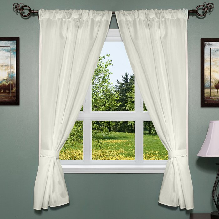 Freemanstown Classic Window Treatment Set Pertaining To Classic Hotel Quality Water Resistant Fabric Curtains Set With Tiebacks (View 4 of 25)