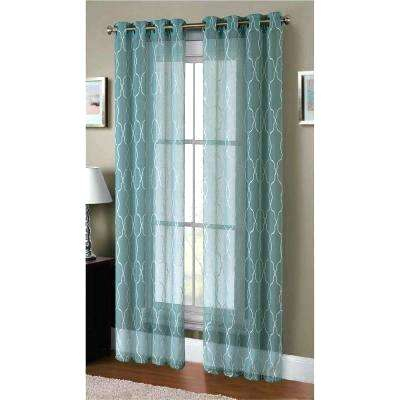 Geometric Sheer Curtains – Xluna (View 7 of 25)