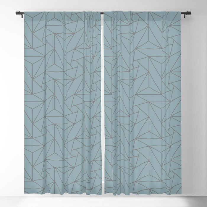 Gray & Pastel Blue Abstract Triangle Geometric Mosaic Shape Pattern Pairs  To 2020 Color Of The Year Blackout Curtainpipafineart With Regard To Abstract Blackout Curtain Panel Pairs (Image 15 of 25)