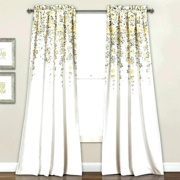 Gray Window Curtains – E Kerajaan Throughout Weeping Flowers Room Darkening Curtain Panel Pairs (Image 7 of 25)