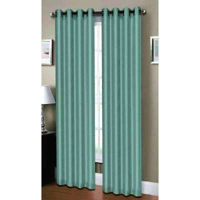 Green Grommet Curtains – Eventsreview Pertaining To Faux Linen Extra Wide Blackout Curtains (View 14 of 25)