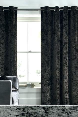 Grey Velvet Curtains Exclusive Fabrics Heritage Plush Single With Regard To Heritage Plush Velvet Single Curtain Panels (Image 8 of 25)