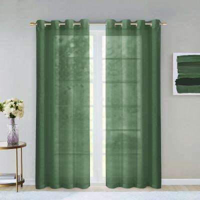 Grommet – Sage – Sheer – Curtains & Drapes – Window Regarding Wavy Leaves Embroidered Sheer Extra Wide Grommet Curtain Panels (View 19 of 25)