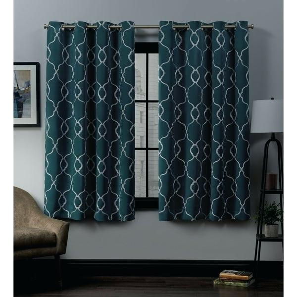 Grommet Top Curtain Panels Bamboo Woven Blackout Panel Pair With Regard To Abstract Blackout Curtain Panel Pairs (Image 17 of 25)