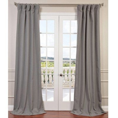 Half Price Drapes Solid Room Darkening Rod Pocket Single In Heavy Faux Linen Single Curtain Panels (Image 12 of 25)